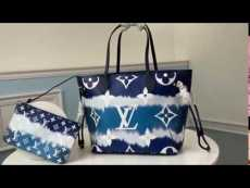 M45270 Louis Vuitton/LV  neverfull  colorful monogram canvas durable shopping tote bag paired with delicate coin pouch