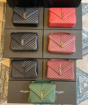 YSL monogram female quilted flip messenger bag vintage portable crossbody shoulder bag multicolor for election