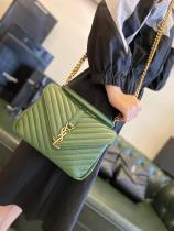 YSL  monogram female casual quilted flap chain-strap crossbody shoulder bag lightweight multifunction satchel bag