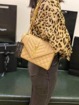 YSL envelope female stylish quilted sling-chain crossbody shoulder bag vintage flip satchel bag ultimate version YSL replica