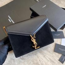 Yves Saint laurent/YSL CANSANDRA ladies envelope flip crossbody bag antique bronze hardware