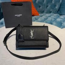 Yves Saint laurent/YSL sunset22 ladies casual vintage messenger bag casual crossbody shoulder bag medium size