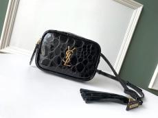 Yves Saint laurent/YSL Lou female tassel zipper waist belt bag