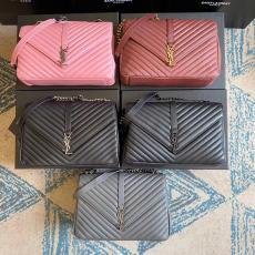 Yves Saint laurent/YSL monogram female chevron-quilted vintage flip messenger bag chain strap crossbody bag large size