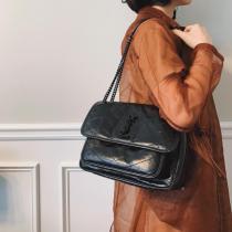 Yves Saint laurent/YSL NIKI20 female stylish vintage messenger bag graceful chain-strap crossbody bag Small size