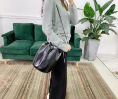 Yves Saint laurent/YSL female casual tassel drawstring bucket bag exquisite birthday present for lover