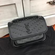 Yves Saint laurent/YSL NiKI28 female woven flip messenger bag elegant vintage chain strap crossbody bag double size for choice
