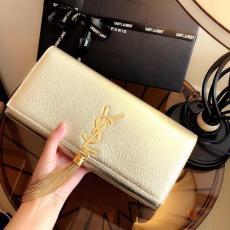 Yves Saint laurent/YSL female gorgeous flip tassel party clutch wristlet multislots card holder
