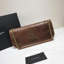 Yves Saint laurent/YSL monogramme female casual chain-strap shoulder bag  antique bronze hardware