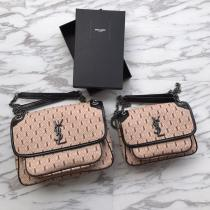 Yves Saint laurent/YSL NIKI28 female waterproof  vintage messenger bag  chain-strap printing crossbody bag double size