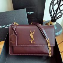 Yves Saint laurent/YSL Sunset22 female casual chian strap crossbody shoulder bag excellent daily street outfit