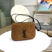 Yves Saint laurent/YSL female delicate flip vintage half-moon saddle bag sufficiently-capacious capacity for daily essentials