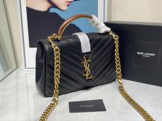 Yves Saint laurent/YSL Monogram female chevron-quilted flip portable messenger bag current crossbody shoulder bag