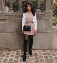Yves Saint laurent/YSL Sunset22 female flap vintage messenger bag crocodile-embossed chain-strap cross bag