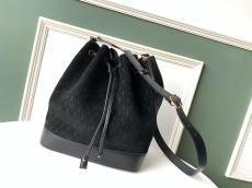 Yves Saint laurent/YSL female suede drawstring tassel bucket bag casual vintage crossbody bag