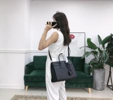 Yves Saint laurent/YSL SAC DE Jour female portable briefcase laptop bag triple-compartment open shopping bag