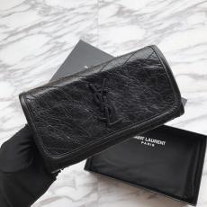 Yves Saint laurent/YSl NIKI female bifold flip long purse  multislots card holder elegant party clutch wristlet