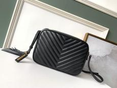 Yves Saint laurent/YSL female chevron-quilted tassel zipper camera bag small square bag