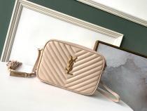 Yves Saint laurent/YSL female chevron-quilted tassel zipper camera bag small square bag