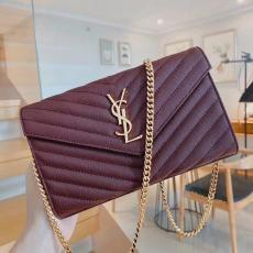 Small size Yves Saint laurent/YSL female WOC envelope-style chain-strap crossbody shoulder bag fashion smart bag