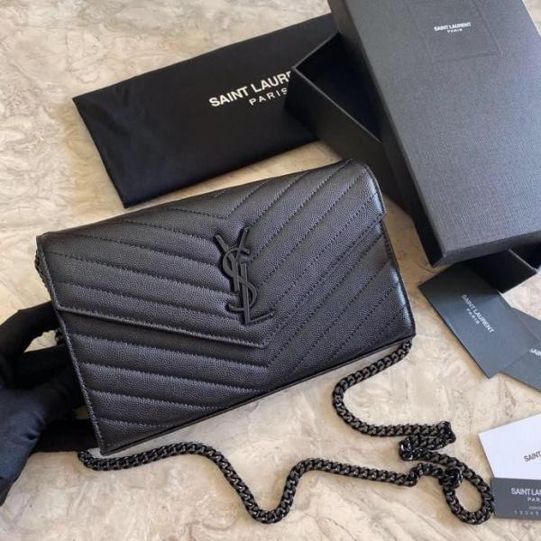 Yves Saint laurent/YSL female chevron-quilted WOC flap chain-strap crossbody bag small square bag enormous color for option