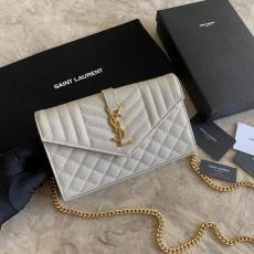 Yves Saint laurent/YSL female WOC  envelope-style flip chain-strap crossbody bag antique bronze hardware