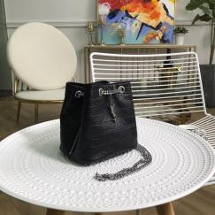 Yves Saint laurent/YSL female casual drawstring tassel bucket bag vintage chain-strap crossbody bag