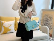 Chanel AS1917 female plain top-handle portage chain-strap crossbody bag flap handbag fashion outfit for casual look