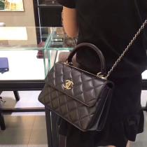 Chanel Trendy CC  AS92236 female quilted portage vintage chain-strap crossbody shoulder bag exquisite flap handbag AS92236