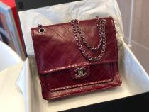Chanel A091235 female classic vintage messenger bag quilted chain-strap crossbody bag with woven trim