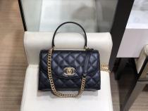 Chanel As1175 Vanity square-lattice quilted vintage messenger bag luxury handbag iconic Double-C twist lock