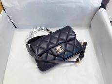 Chanel Ap1122 female casual quilted flap artificial-pearl-chain lovely chest waist bag adjustable shoulder strap for multiple carrying