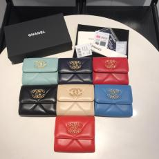 Chanel Ohanel clamshell trifold small wallet multislots card holder coin pouch wristlet seven colors for election