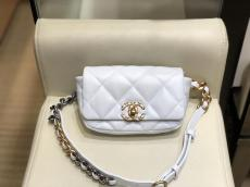 Chanel lady stylish quilted flap waist belt bag convenient chest bag antique bronze hardware