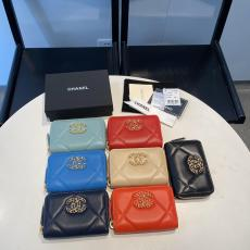 Chanel ohanel female quilted zipper smallwallet coin pouch multicolor variation