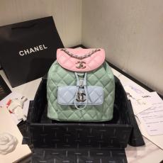 Chanel Duma female rhombic-lattice quilted drawstring tassel small backpack