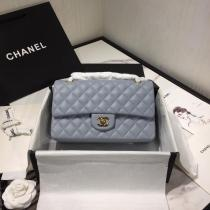 Chanel  CF 25 A01112 female quilted classic flap crossbody bag  with iconic Double-C twist fastener  medium size