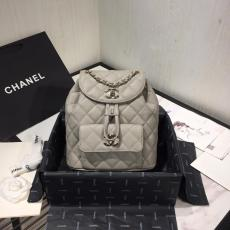 Chanel duma backpack  As1371 female waterproof  drawstring flap mini backpack with signature Double-C twist fastener