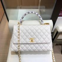 Chanel Coco handle female luxury vintage portable messenger bag quilted chain-strap COCO handbag double size