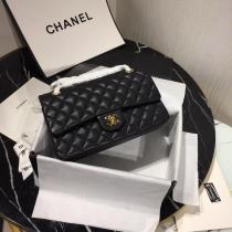 Chanel  CF 25 caviar  A01112 female quilted classic flap crossbody bag  with iconic Double-C twist fastener  medium size