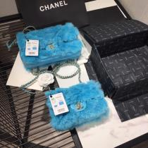 Chanel CF female woollen quilted classic flap crossbody bag graceful small square bag multiple color variation