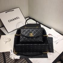 Chanel female trendy quilted flap handbag versatile vintage messenger bag lightweight chain-strap crossbody bag double size