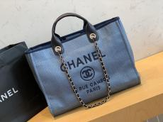 Chanel A8000 Classic lightweight large-capacity open shoping tote bag outdoor traveling luggage sand beach multistyle variation bag
