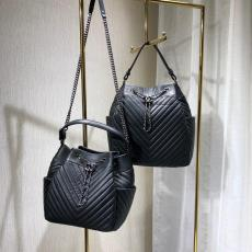 Chanel 91273 91277 chevron quilted tassel drawstring portable bucket bag lightweight shoulder bag silver tone hardware