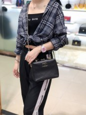 Chanel As0351 feminine quilted mini bowling bag Boston pillow bag portable chain-strap crossbody bag myriad color variation