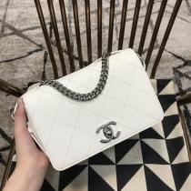 Chanel female trendy quilted flap handbag vintage messenger commuter bag elegant shoulder bag multicolor for option