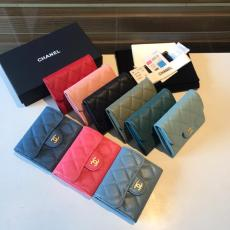Chanel CF caviar wallet  female quilted clamshell bifold smallwallet small purse multislots card holder exquisite coin pouch