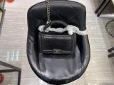 Chanel Le boy handbag luxury lizard-leather portable messenger bag single chain crossbody flap bag medium size  antique silver  hardware