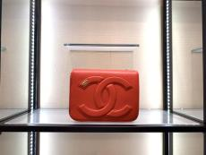 Chanel  CC flap bag As0321 female stylish  chain-strap crossbody shoulder bag embossed small square box bag multicolor variation
