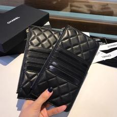 Chanel CF caviar wallet trendy quilted zipper smartphone pouch long purse multislots card holder coin wallet